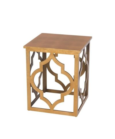 Gold Leaf End Table – A Chair Affair Rentals