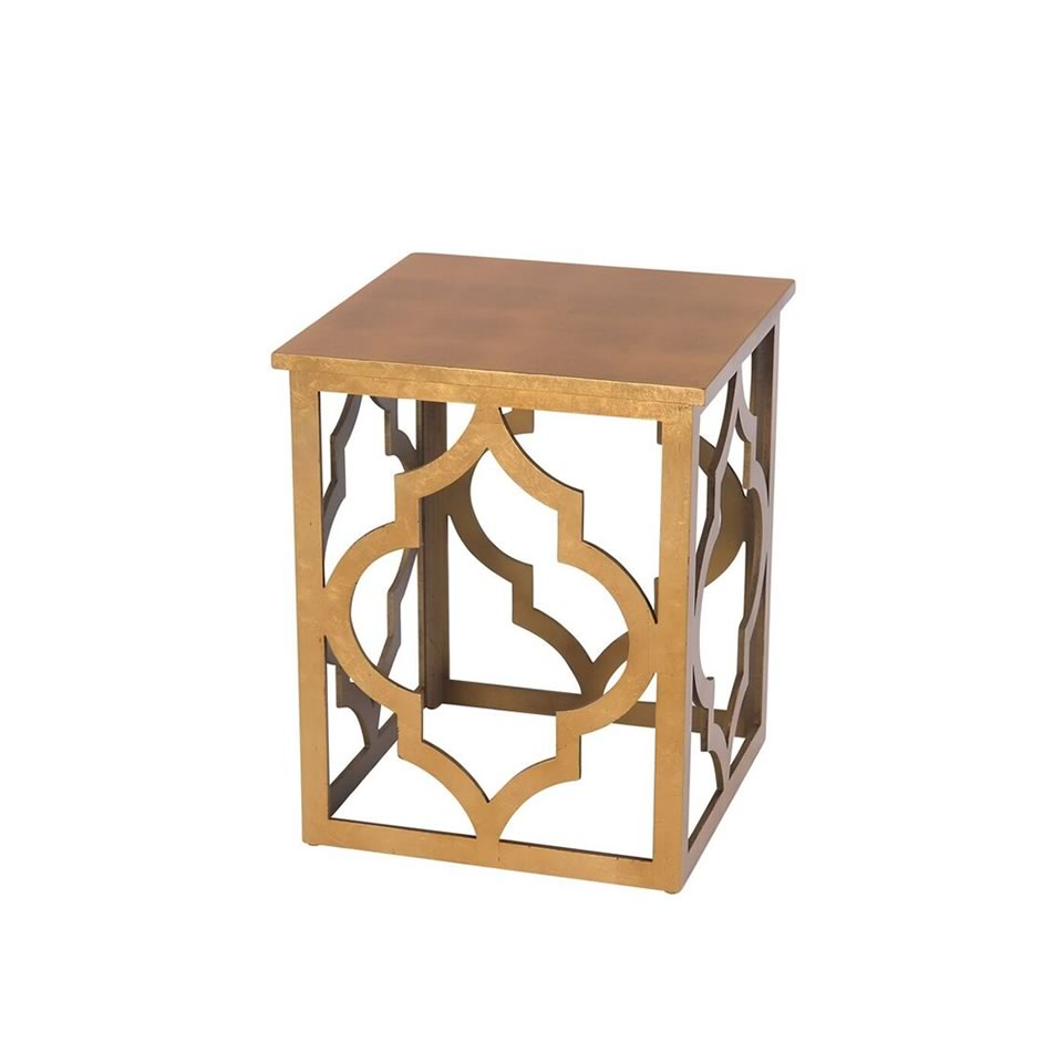 Gold Leaf End Table - A Chair Affair Rentals