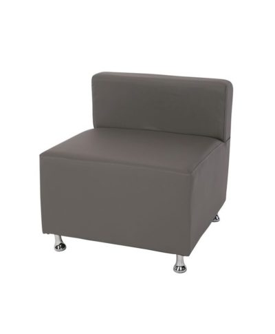 Gray Low Back Mod Furniture Collection Armless Chair