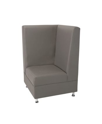 Gray Mod High Back Corner Chair - A Chair Affair Rentals