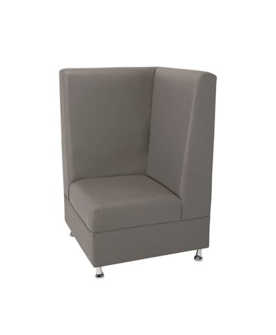 Gray Mod High Back Corner Chair – A Chair Affair Rentals