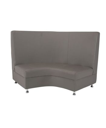 Gray Mod Highback Curved Love Seat