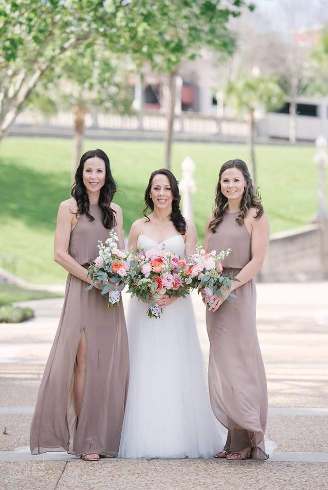 Lake Mirror Wedding bridal party