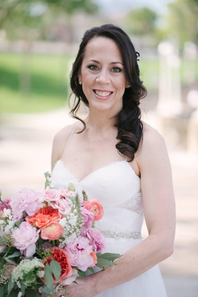 Lake Mirror Wedding bride