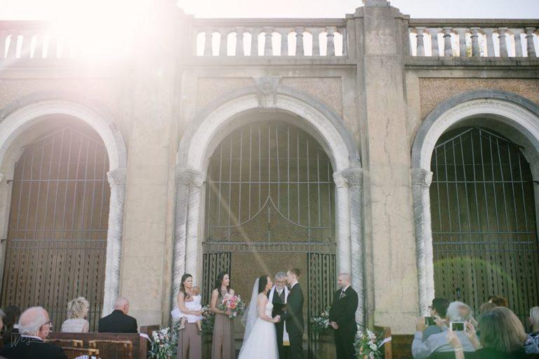 Lake Mirror Wedding ceremony