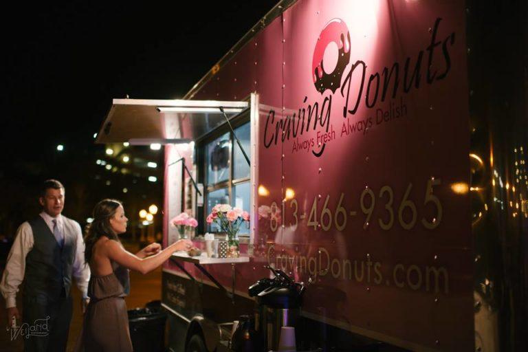Lake Mirror Wedding doughnut truck
