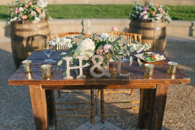 Lake Mirror Wedding mahogany table