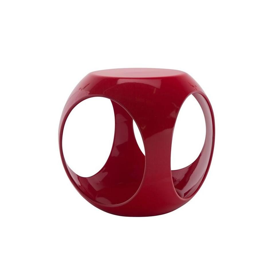 Red Rio Accent Table - A Chair Affair Rentals