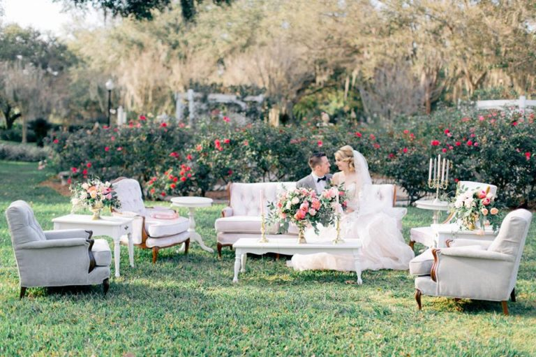 Spring Wedding Inspiration Couple Couches