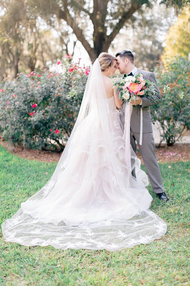 Spring Wedding Inspiration Couple Gown