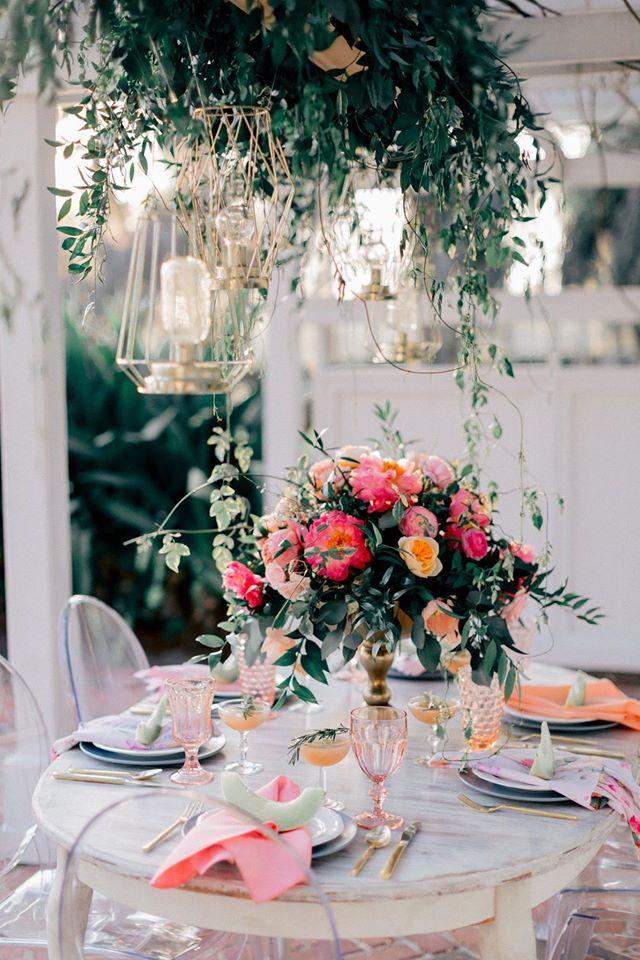 Spring Wedding Inspiration Ghost Chair Centerpiece