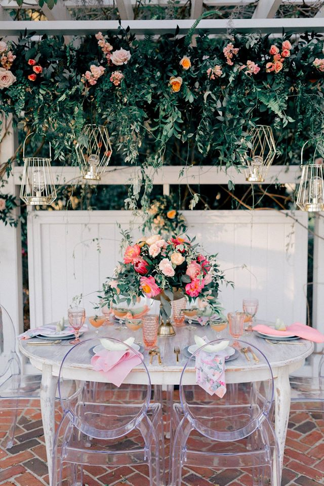 Spring Wedding Inspiration Ghost Chairs Table