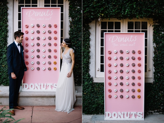 Sydonie Mansion Boho Styled Shoot doughnut wall