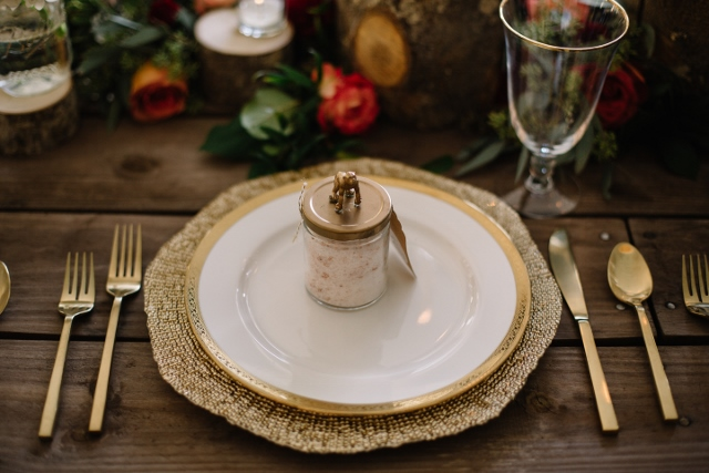 Sydonie Mansion Boho Styled Shoot gold octo charger and flatware
