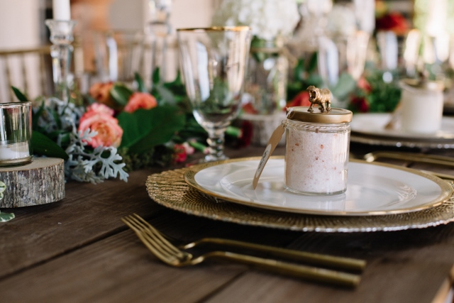Sydonie Mansion Boho Styled Shoot gold octo charger