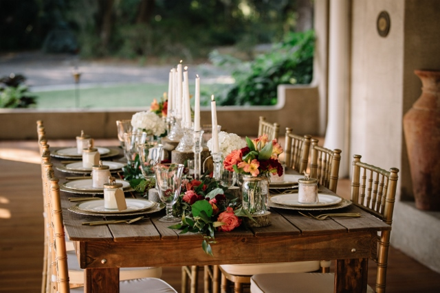 Sydonie Mansion Boho Styled Shoot reception decor