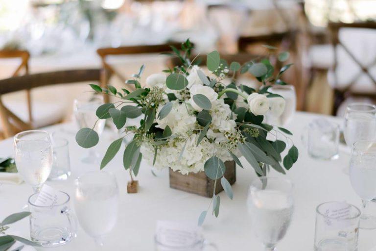 Sydonie Mansion wedding centerpieces