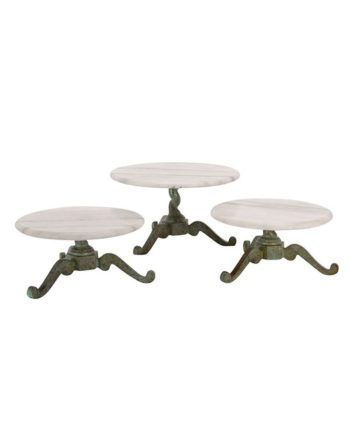 Vintage Marble Dessert Stands - A Chair Affair Rentals