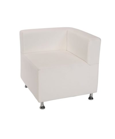 White Low Back Mod Furniture Collection Corner Chair