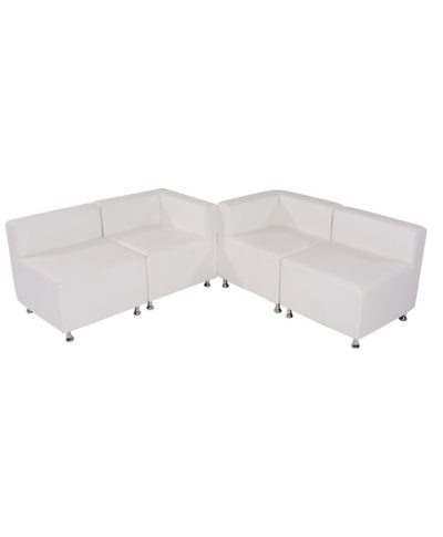 White Mod Low Back Grouping – A Chair Affair Rentals