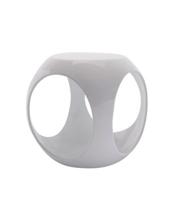 White Rio Accent Table - A Chair Affair Rentals