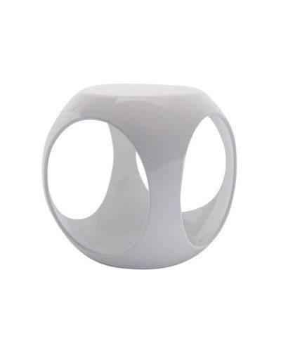 White Rio Accent Table – A Chair Affair Rentals
