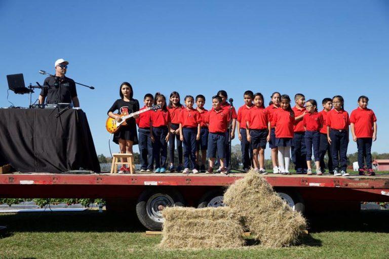 Wish Farms Strawberry Picking Challenge Choir