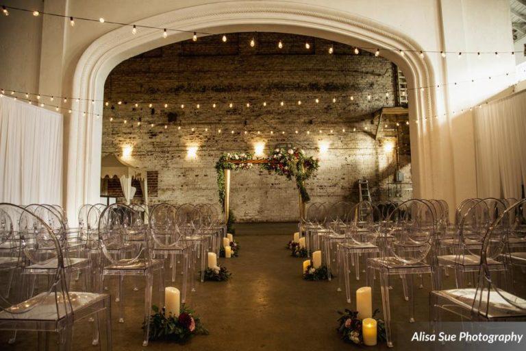 rialto theatre wedding reception decor ghost chairs