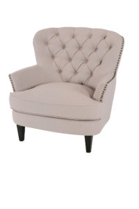 Beige Club Tufted Chair