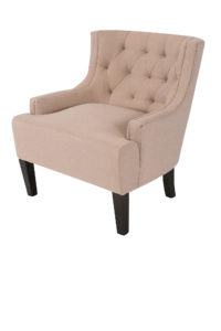 Beige Windsor Tufted Arm Chair