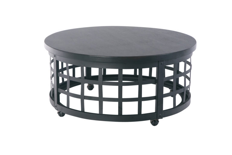 Black Metal Vintage Round Coffee Table
