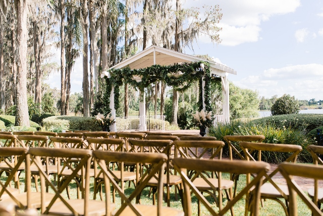 Cypress Grove Estate House Kelly and Ben, ceremony decor