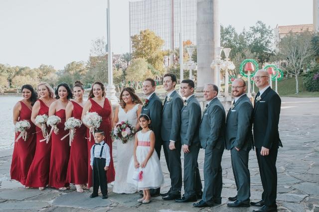 Hollis Garden Meagan and Greg, bridal party