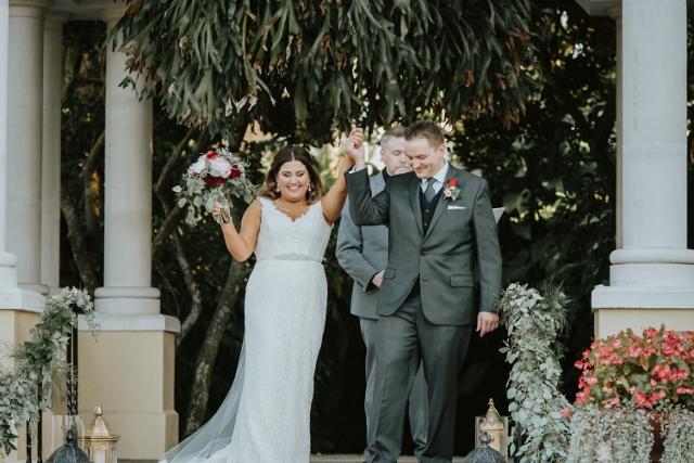 Hollis Garden Meagan and Greg, ceremony exit