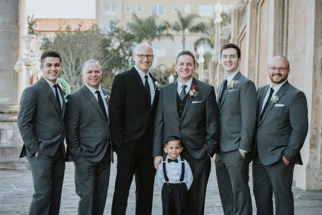 Hollis Garden Meagan and Greg, groomsmen
