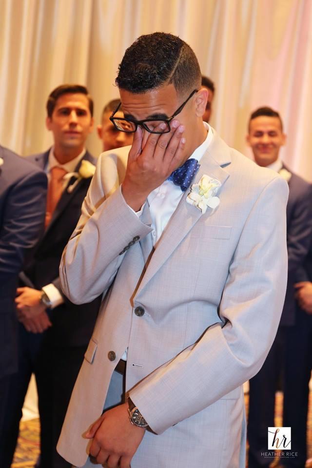 MIssion Inn Resort Wedding ceremony groom