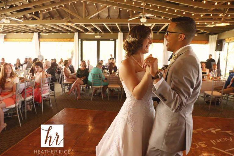 MIssion Inn Resort Wedding reception first dance