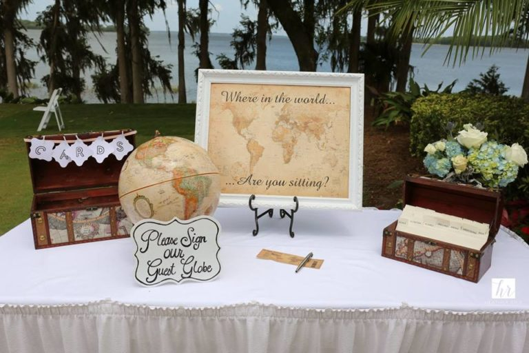 MIssion Inn Resort Wedding reception globe