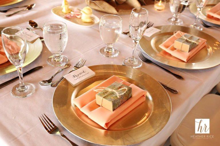 MIssion Inn Resort Wedding reception tables