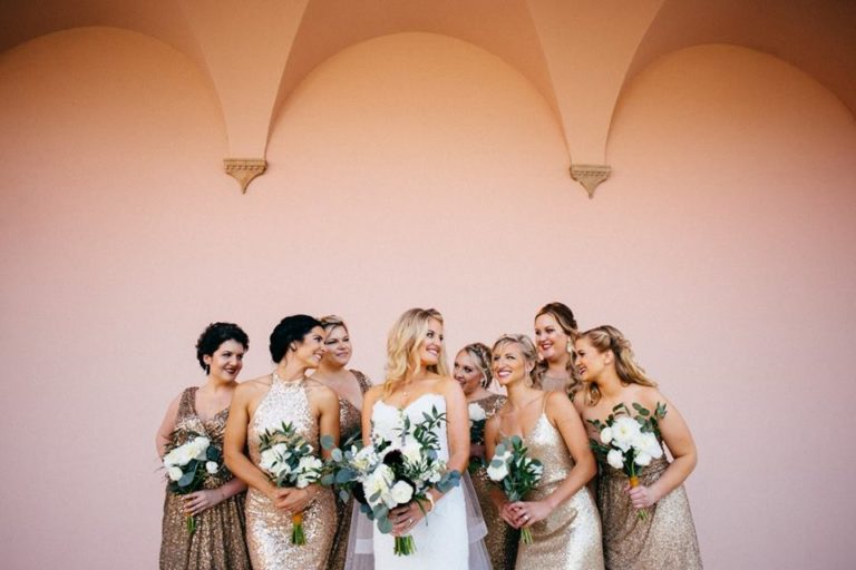 Ringling Museum Wedding bridal party