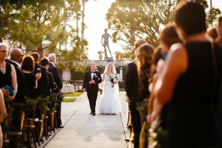 Ringling Museum Wedding ceremon bride