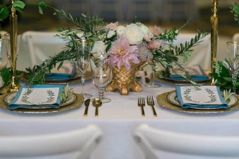 Westgate Resorts wedding brushed gold flatware