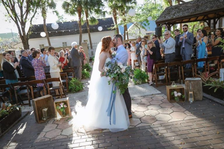 Ybor City Museum Wedding Ceremony Newlyweds