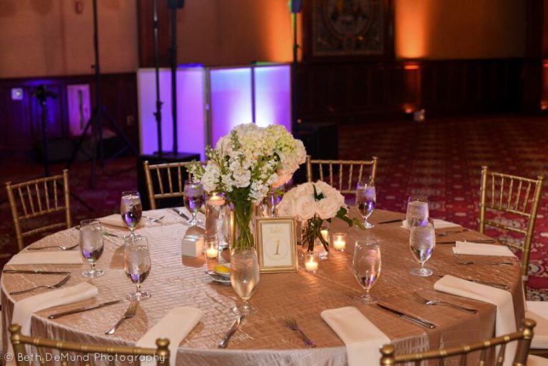 Ballroom at Church Street Wedding gold chiavari chairs