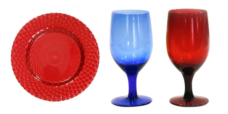Fourth of July Party Decor Charger Goblets
