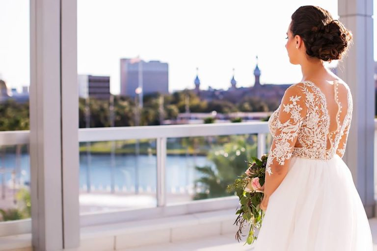 Garden Inspired Wedding bride tampa