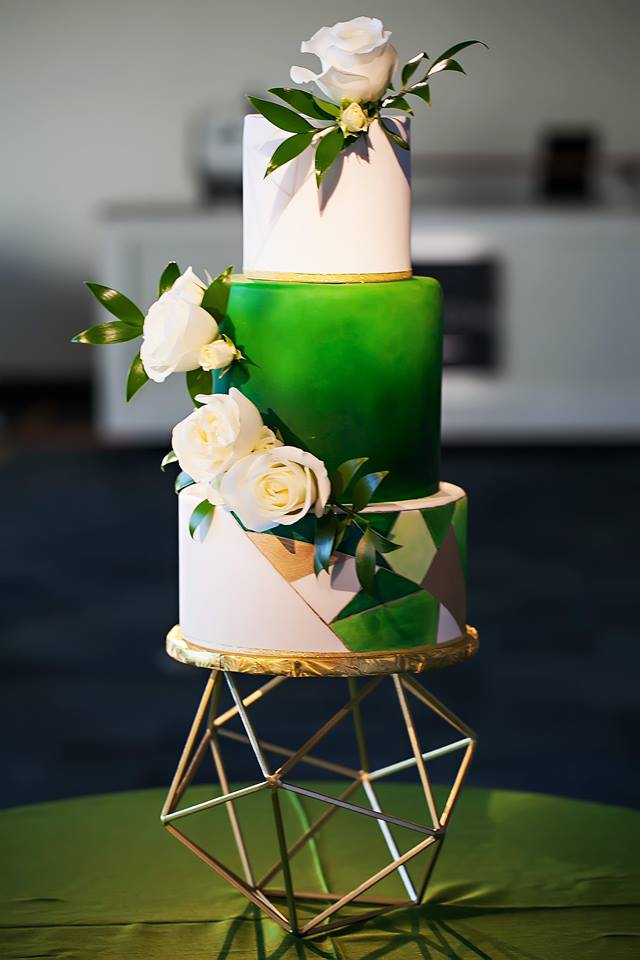 Garden Inspired Wedding cake
