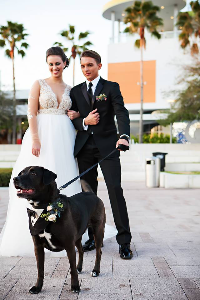 Garden Inspired Wedding dog lab