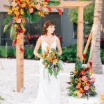beach wedding inspiration bride ceremony