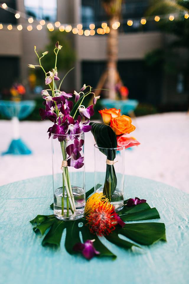 beach wedding inspiration flral
